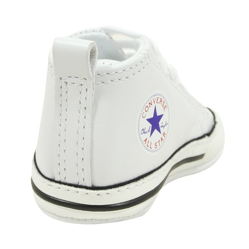 converse first star blanc en cuir basket pour b b fille et gar on. Black Bedroom Furniture Sets. Home Design Ideas