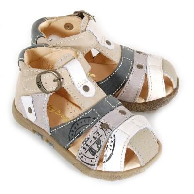 babybotte tag beige et gris sandales b b gar on pas cher chaussures b b sur chauss 39 petons. Black Bedroom Furniture Sets. Home Design Ideas