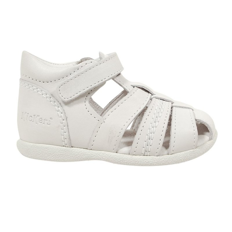 kickers babysun blanche sandales b b gar on pas cher chaussures b b sur chauss 39 petons. Black Bedroom Furniture Sets. Home Design Ideas