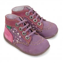 Kickers Bonbon violet imprim&eacute;