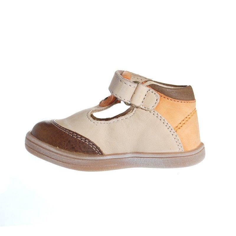 Kickers trevon marron beige sandales b b gar on pas cher - Chaussure kickers bebe pas cher ...
