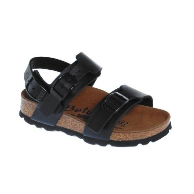 betula by birkenstock global ii noire sandales de plage b b gar on pas cher chaussures b b. Black Bedroom Furniture Sets. Home Design Ideas