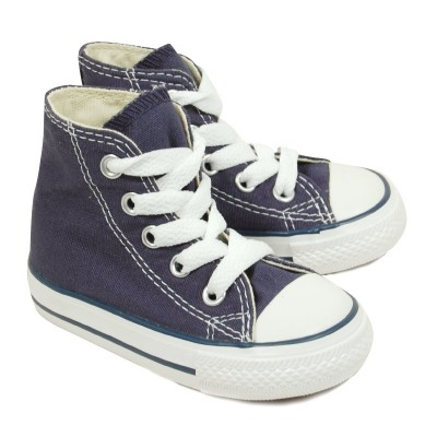 converse chuck taylor all star bleu basket montante pour b b gar on. Black Bedroom Furniture Sets. Home Design Ideas