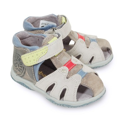 babybotte tiberio blanche et grise sandales b b gar on pas cher chaussures b b sur chauss 39 petons. Black Bedroom Furniture Sets. Home Design Ideas