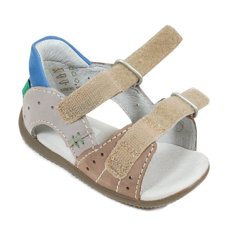 kickers boping grise sandales b b gar on pas cher chaussures b b sur chauss 39 petons. Black Bedroom Furniture Sets. Home Design Ideas