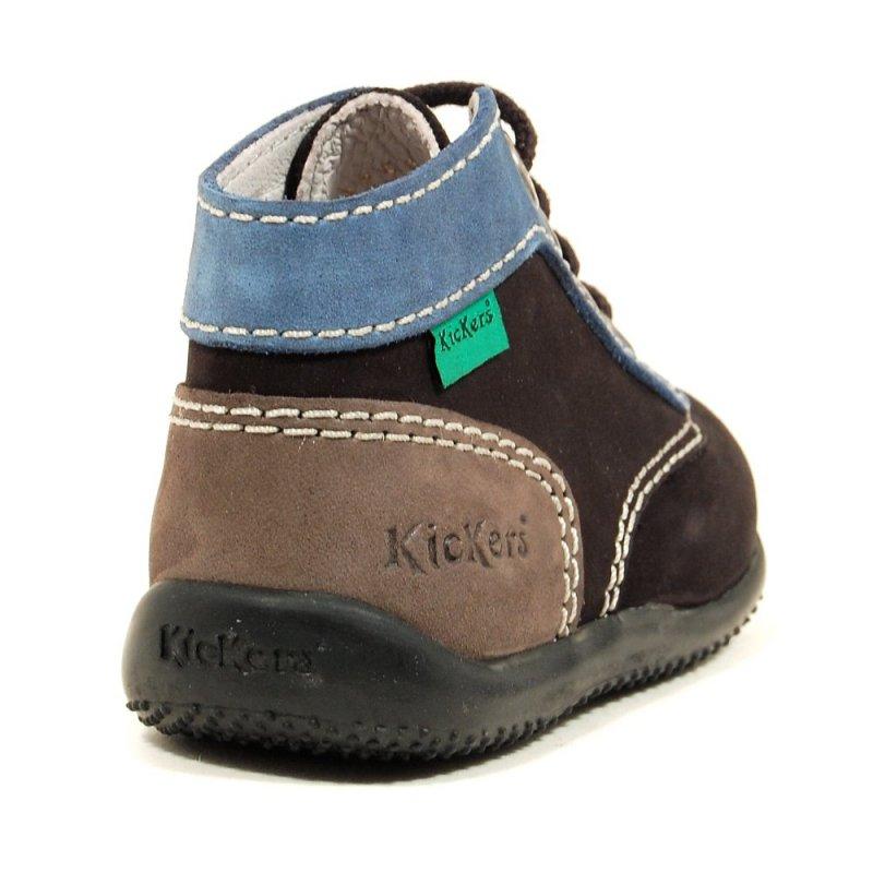 chaussure enfant kickers bonbon gris noir gar on. Black Bedroom Furniture Sets. Home Design Ideas
