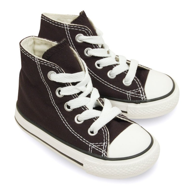 converse chuck taylor all star noire basket pour b b fille. Black Bedroom Furniture Sets. Home Design Ideas