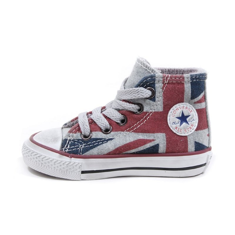 converse ctas uk canvas hi drapeau anglais pour b b fille et gar on. Black Bedroom Furniture Sets. Home Design Ideas