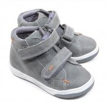 Babybotte Amiral grise en cuir