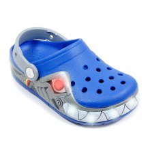 Crocs light robo shark bleu