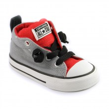 Converse ct street mid Gris rouge