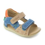 Kickers Boping beige bleu orange
