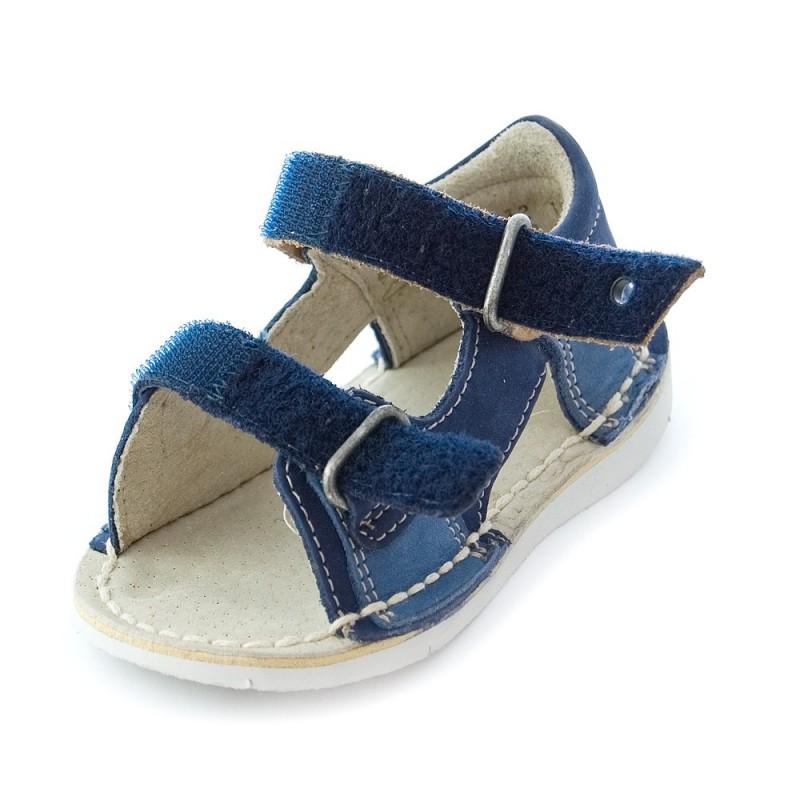 kickers wasabi bis marine bleu beige sandales b b gar on pas cher chaussures b b sur chauss. Black Bedroom Furniture Sets. Home Design Ideas