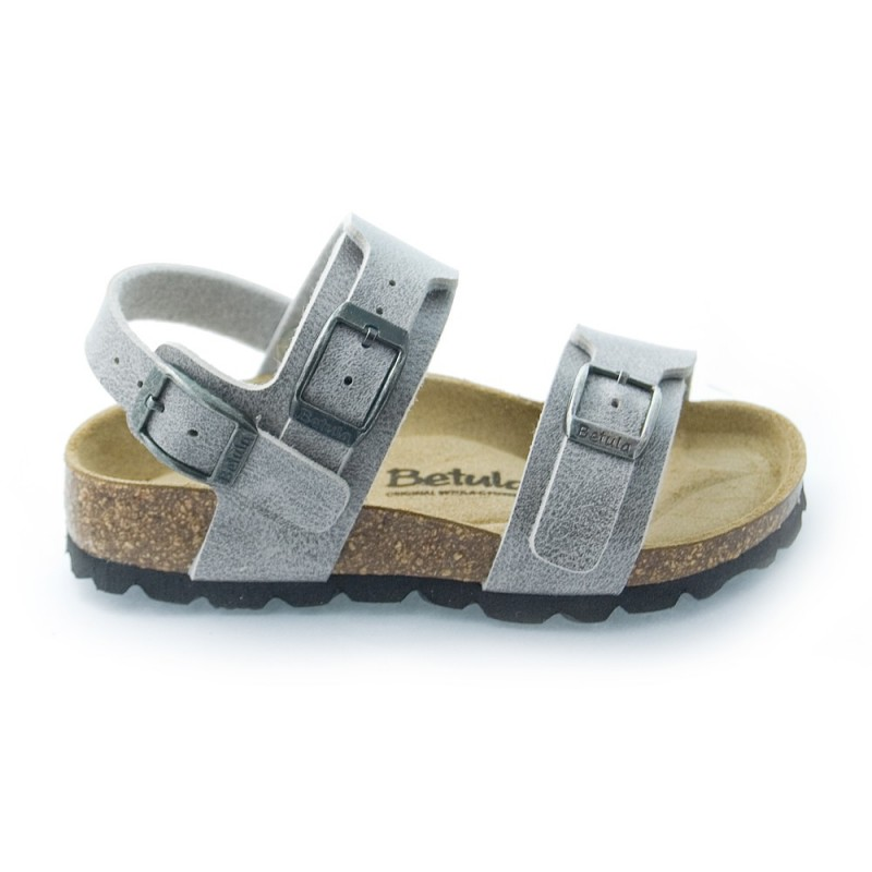 betula by birkenstock gar on global ii gris pastel sandales b b gar on pas cher chaussures. Black Bedroom Furniture Sets. Home Design Ideas