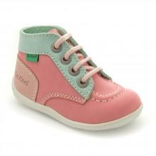 Kickers Bonbon Rose, vert clair et rose clair