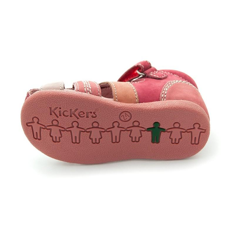 kickers babysun rouge rose sandales b b fille pas cher chaussures b b sur chauss 39 petons. Black Bedroom Furniture Sets. Home Design Ideas