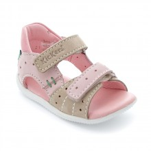 Kickers Boping beige rose clair