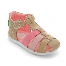 Kickers Bigfly Beige rose clair rose