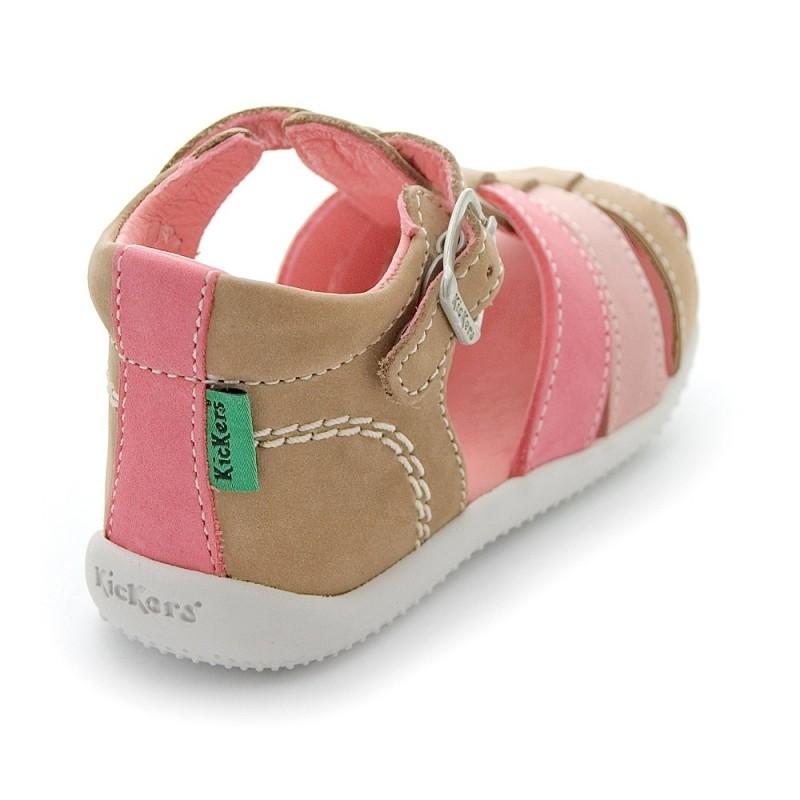 sur des pieds à sélectionner pour l'original meilleur authentique Kickers Bigfly Gris Violet clair sandales bébé fille pas ...