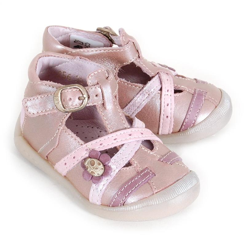 ac48c9138f4a1 Chaussures bébé Babybotte Singrid rose mordoré